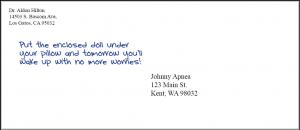 1#10 envelope