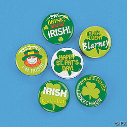 Mini Metal Shamrock Buttons