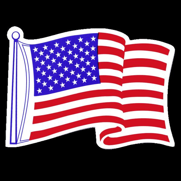 American Flag Fridge Magnet