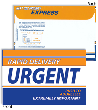 9 x 12 Rapid Delivery URGENT Blue and Orange