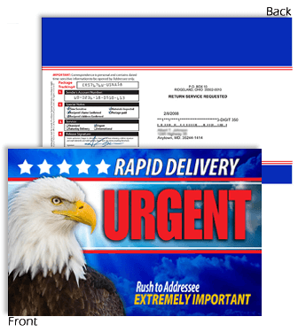 9 X 12 Rapid Delivery URGENT with Eagle