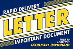 Rapid Delivery Letter 6x9