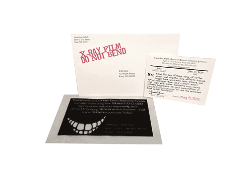 X-Ray Film - Do Not Bend 3-Piece Direct Mail Set