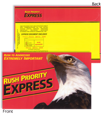9 x 12 Rush Priority EXPRESS Red Eagle