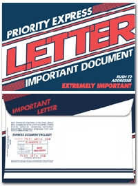Priority Express Letter 6 x 9